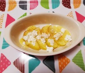 レンジで簡単!豆乳で作るカスタードクリームと低脂肪、低カロリーな焼きりんごの作り方。