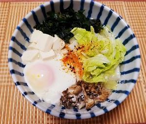 風邪のひきはじめの食事。何もしたくない、ご飯作るのめんどくさい日に食べるレンジで簡単ズボラうどんの作り方。