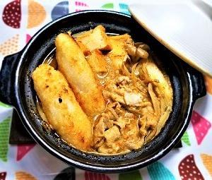 【カリカリモチモチきりたんぽ】と【豚肉でピリ辛味噌煮込みきりたんぽ鍋】の簡単な作り方。