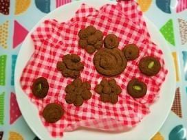 小麦、玉子、乳製品なし。絞り袋で上新粉のチョコクッキーの作り方。