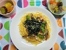 まごわやさしい。鯵のペペロンチーノ定食の作り方。