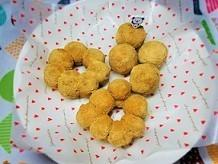 ビニール袋で簡単。お豆腐入り、シナモンきな粉のモチモチドーナツの作り方。