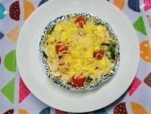 オーブンで簡単。チーズのせ焼き野菜の作り方。