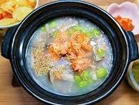 【まごわやさしいレシピ】鮭と枝豆の雑穀粥定食の作り方。