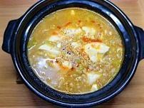 【歯の治療中食事】四川風麻婆豆腐雑炊の作り方。