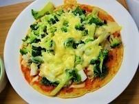 【血糖値の急上昇を抑える食事】オートミールでセサミピザの作り方。