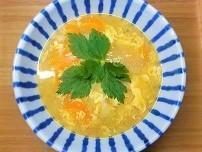 【歯の治療中食事】野菜と玉子のワンタンスープの作り方。