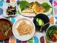 【まごわやさしい】鯖の味噌煮定食の作り方。