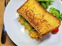 エッグドロップサンドイッチを想像で作ったら別の物ができた。