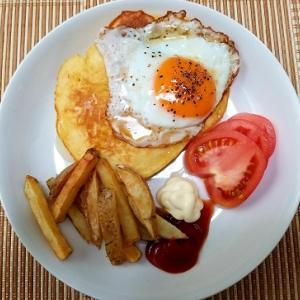 忙しい朝にフライパン一つでホットケーキワンプレート楽々ー朝ご飯ー