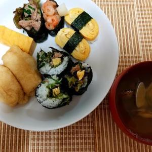 家にあるものでお寿司作ってみた。無性にお寿司が食べたい理由は?-夕ご飯ー