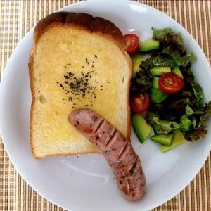 簡単ガーリックトースト。アボカドの見分け方と熟成のさせ方ー朝ご飯ー