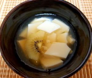 コレストロールをさげる。豆乳を使った手作り杏仁豆腐。ゼラチンと寒天の違いーデザートー