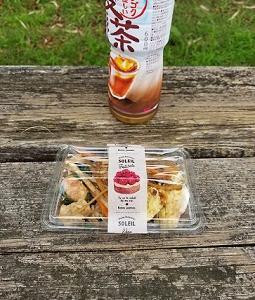 お弁当もって公園に行ってきました!向日葵が綺麗でしたー昼ご飯ー