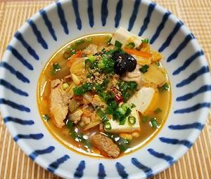 ピリ辛薬膳スープを作りました!まだ始めて数日だけれど、ゆる薬膳の効果は?-朝ご飯ー