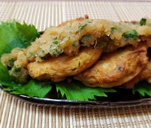 リメイク!大豆の梅ひじき煮のおにぎり。簡単!梅とシソが香る、おろしポン酢がんもどきの作り方。