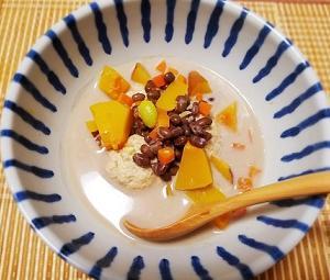 むくみ改善!胃腸の調子をととのえる、小豆と豆乳の薬膳スープの作り方。