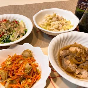 今日の晩ごはん〜6月7日(人生で初めて生梅を食べてみた)