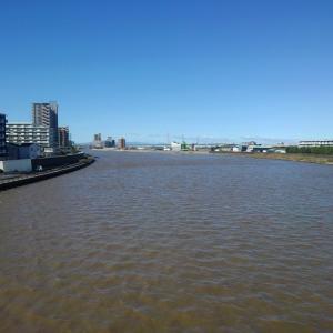 台風一過 隅田川と荒川