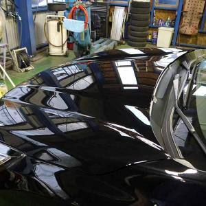 新車フォレスター!カイザーⅡボディコーティング!ボディもホイールも2層コートよん。
