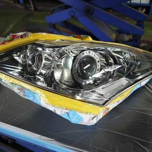 V36スカイライン!カイザーⅡボディコーティングとヘッドライトのクリヤー塗装!②