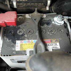 C25セレナ・12ヶ月点検!バッテリーターミナルの腐食はこのようにしてキレイしまふ。