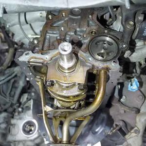 【EP82スタタボ】オイル漏れ修理!エンジン降ろした方が早いかも。②