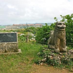 富盛の石彫大獅子横の米兵は、どこを覗いてるの!?の巻