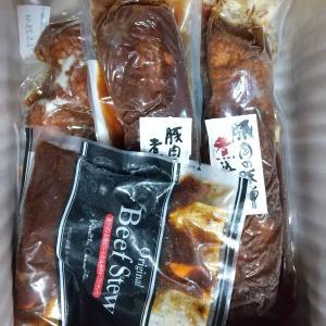 マックスバリュ東海からお肉コースこだわりの味セット(米久)が到着