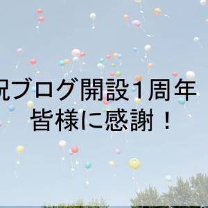 祝!ブログ開設1周年!皆様に感謝!!