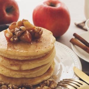 天然酵母でパンケーキのレシピ。卵なしやストレート法でも作れます