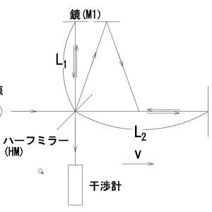 相対論の復習(1):Michaelson Morleyの実験