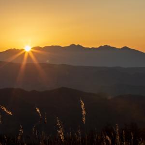 場所を移動して日の出撮影 高ボッチ高原