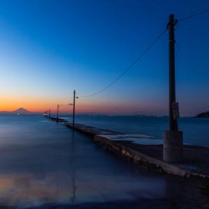 富士山を撮ることができました 原岡海岸