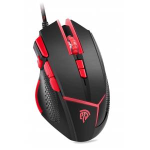 【EasySMX V18をレビュー】9ボタンの多機能ゲーミングマウス【ブラック+レッド】