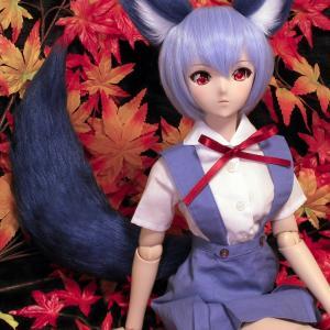 綾波レイを制服で撮影。狐尾サイズ中プラス