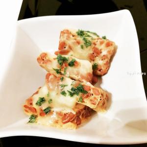 レンジでカンタン♪食べやすい「チーズ納豆卵焼き」