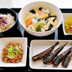 鱈と白菜の卵とじ・いわしの丸干し他の献立