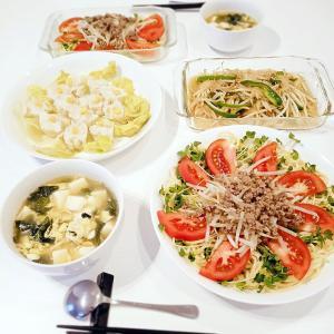 だらしないゴム*トマトと挽肉の冷やし中華 | 日々ログ