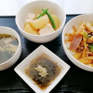大根豆腐の味噌煮*たれ豚丼ほかの献立 | うちごはん
