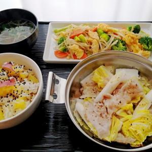 季節のごはんと豚白菜のミルフィーユ♪献立 | 食材宅配で晩ごはん