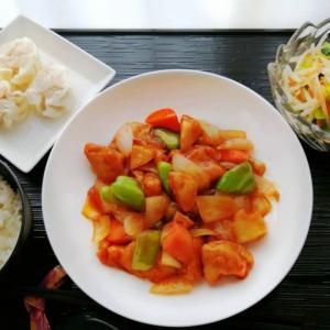 黒酢酢豚&肉焼売・小松菜ともやしの華風あえ
