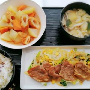 もちぶた生姜焼き&あっさり煮とモンブランず。