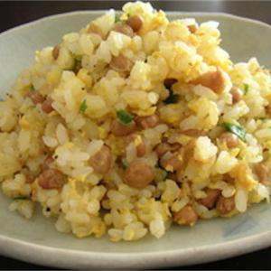 今日のお題「思い出の味」 納豆炒飯