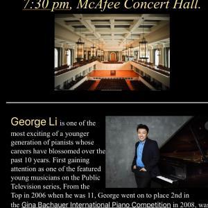 ジョージ・リーのピアノコンサート