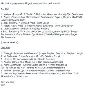 今日のZoom合同弾き合い会のリストがすごい!