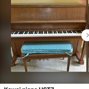 カワイのアップライト・ピアノを$500で購入!