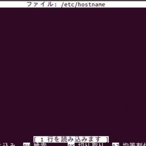 Ubuntu18.04でホスト名を変更する方法