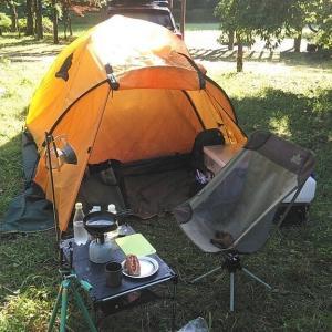 自粛明け山奥広場キャンプ(ソロキャンプ)