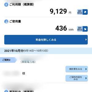 2021年10月の検針票